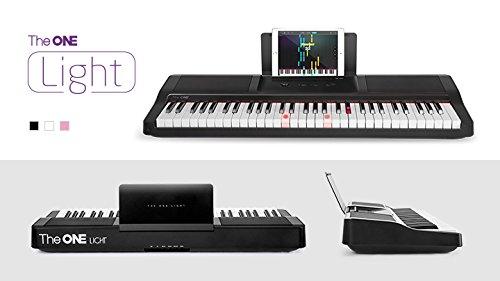The ONE Smart Piano 61-Key Portable Light Keyboard, USB MIDI Electronic Keyboard Piano - Onyx Black by The ONE Smart Piano (Image #7)