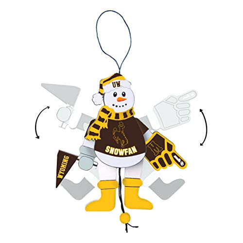 Topperscot Wyoming Cowboys Official NCAA Holiday Christmas Snowman Ornament 517278 ()