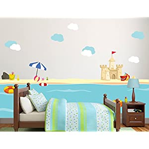 41SWCynbmiL._SS300_ Beach Wall Decals and Coastal Wall Decals