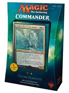 Magic The Gathering MTG Commander 2017 Deck – Feline Ferocity