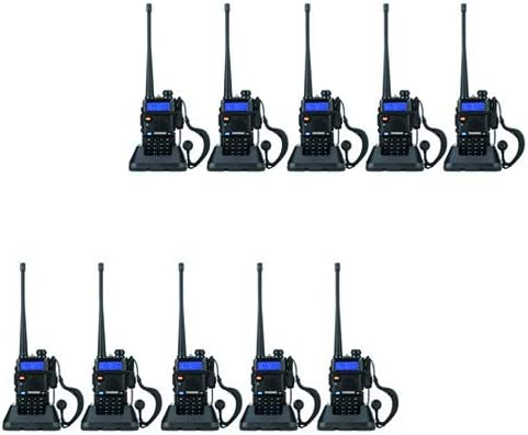 BaoFeng UV-5R Dual Band Walkie Talkie VHF UHF Two Way Radio 10 Pack