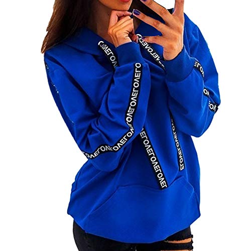 CUCUHAM Women Plus Size Long Sleeve Solid Sweatshirt Hooded Pullover Tops -