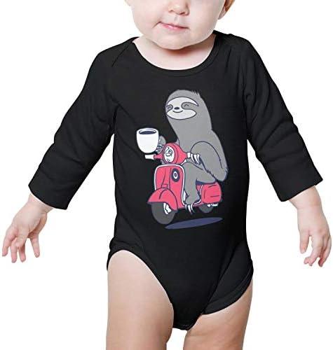 PoPBelle Sloth Fighter self Defense Newborn Romper Long Sleeve Sleepwear Cotton Unisex