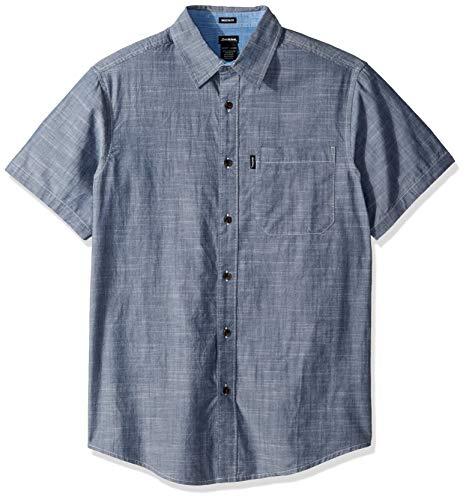 Dickies Men's Modern Fit Short Sleeve Chambray Shirt, Rinsed, M