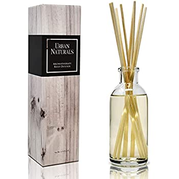 Urban Naturals Patchouli Woods Reed Diffuser Scent Sticks Gift Set | Sandalwood, Patchouli & Ylang Ylang | Scented Oil for Mid to Large Size Rooms. Vegan. Made in The USA