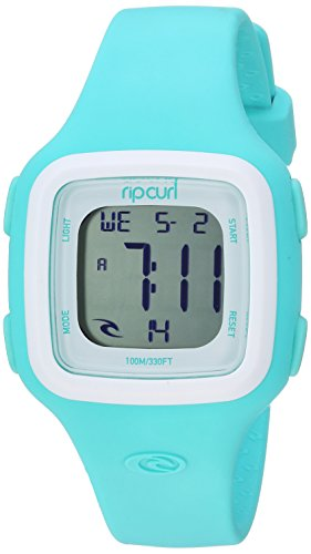 (Rip Curl Women's Candy Quartz Sport Watch with Silicone Strap, Green, 17 (Model: A3126G-MNW))