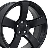 #8: 20x8 Wheel Fits Dodge, Chrysler - Charger Style Satin Black Rim, Hollander 2296