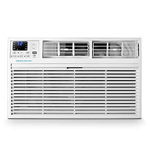 Emerson Quiet Kool 230V 14,000 Smart Through-The-Wall 10,600 BTU Supplemental Heating, EATE14RSD2T Air Conditioner, 14000, WiFi, White