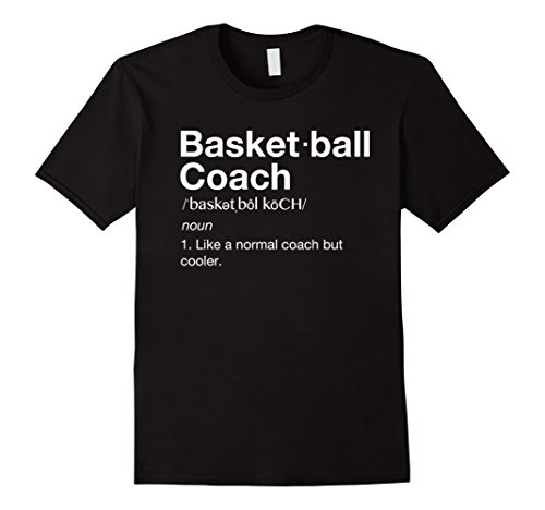 Mens Basketball Coach TShirt Gift Funny Basketball Definition Tee Large Black