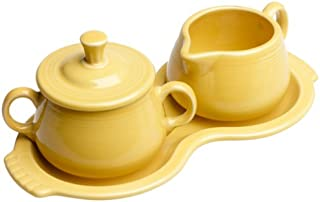 product image for Fiesta Covered Sugar and Creamer Set with Tray, Sunflower