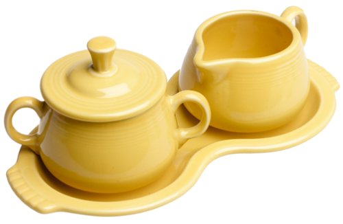 China Covered Sugar Bowl (Fiesta Covered Sugar and Creamer Set with Tray, Sunflower)