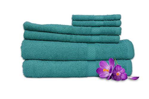 Welhome Snapshot 6 Pcs Cotton Towel Set - Jade