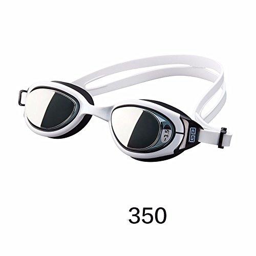 LXKMTYJ Lunettes de natation Imperméable à leau et anti-buée HD unisexe adulte formation professionnelle Myopia, 350 degrés