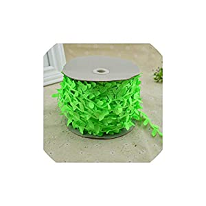 C-J-Shop 200cm/lot Artificial Flowers Vine Christmas for Home Wedding car Decor Accessories Fake Plants Leaf Vine DIY Wreath Gifts,Fluorescent Green 21
