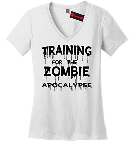 Comical Shirt Ladies Training for The Zombie Apocalypse White S (Ladie White Training)