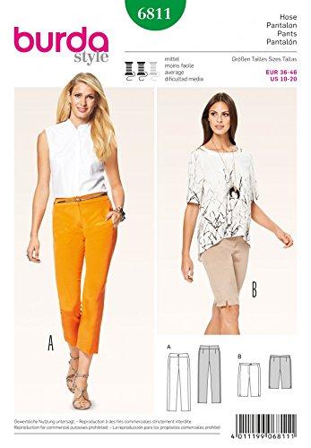 neues vollständige Palette von Spezifikationen Kunden zuerst Burda Damen Schnittmuster 6811 – Capri Hose & Long Shorts ...