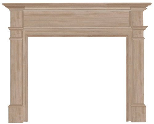 Pearl Mantels 120-48 Windsor Fireplace Mantel Surround, 48-Inch, Unfinished