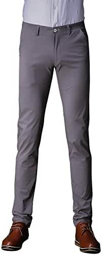 TALITARE Men's Formal Flat Front Work Wear Slim Fit Tapered Suit Pant