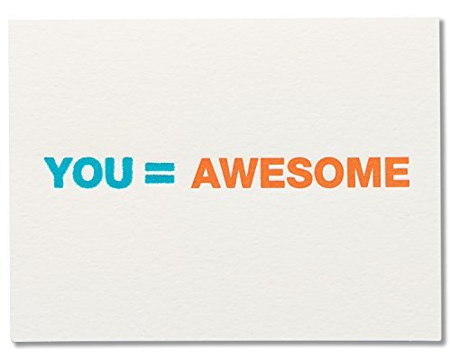 American Greetings You Equal Awesome Thank You Greeting Card with Thick Stock Paper