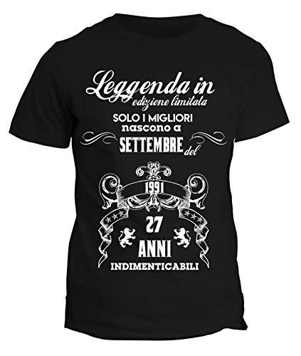 Migliori Limitata I Birthday In Idea Compleanno 1991 Fashwork Edizione Settembre Divertenti Nero Happy A Tshirt Regalo Del Leggenda Anni Indimenticabili Solo Nascono 27 AWX448U