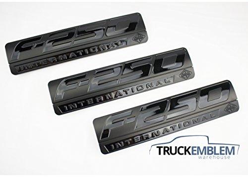 Truck Emblem Warehouse 3 New Custom Matte Black F250 Powerstroke International Fender Badges Emblems