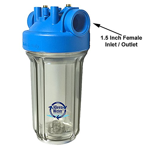 KleenWater Whole House Water Filter, Complete Filtration System, Includes 3 Dirt Rust Sediment Cartridges, Best for Home or Commercial Applications
