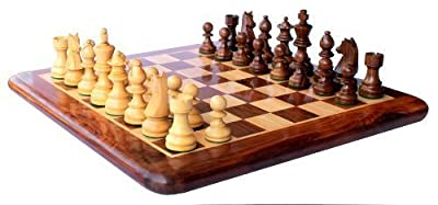 "15"" X 15? Collectible Rosewood Chess Game Board Set Wood Crafted Pieces (Delivered Within 7 Days)"