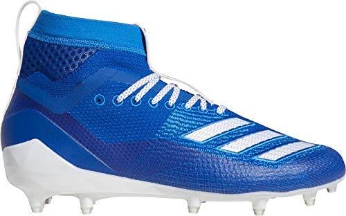 adidas Men's Adizero 8.0 SK Football Shoe Collegiate White/Bright Royal, 13 M US
