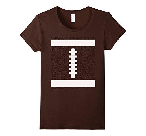 Womens Football Last Minute Halloween Costume Shirt Medium Brown - Women's Football Costumes Halloween