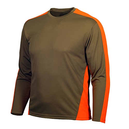 Gamehide Lightweight Wicking Upland Field Long Sleeve T Shirt (Tan/Orange, 2X-Large)