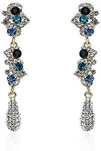 Woman's alloy crystal fashion earings