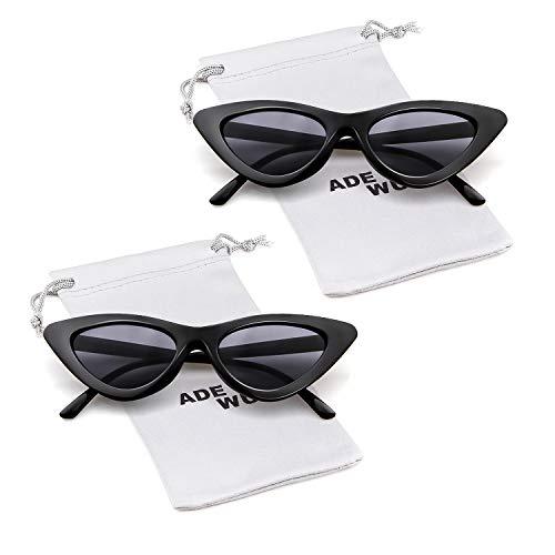 1 gato Pcs de Cobain de Gafas de de Gafas Kurt de ojo gafas niñas ADEWU protección sol para mujeres estilo vintage 2 retro sol Black fSAwqnZX