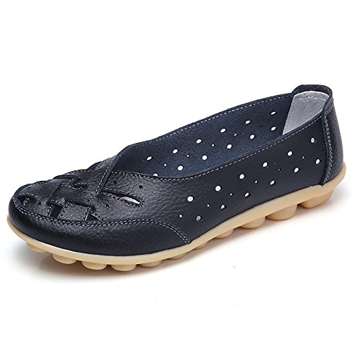 Women Shoes, Soft Lady Flats Sandal ✦◆HebeTop✦◆ Leather Ankle Casual Slipper Single Shoes Black