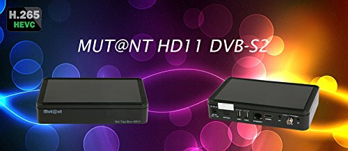 Mut@nt Hd11 DVB-S2 - H.265 Full Hd Receptor de Satélite E2 Negro