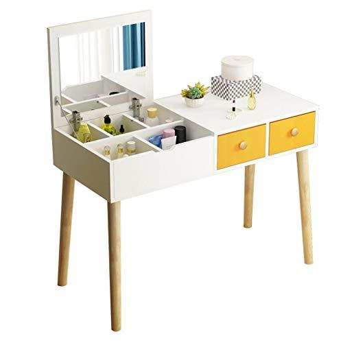 Hong Yi Fei-Shop Tocador Dormitorio Moderno Minimalista Tocador Nordic Tocador Multifuncional Neto Red Dress Cabinet (Color : Yellow)