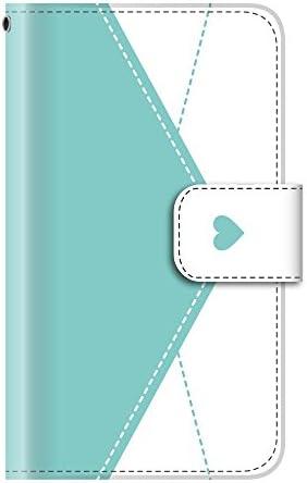 ラブレター 手紙 ハート(手帳型)【05.ミント】 iPhone SE 第2世代 (2020) / iPhone8 手帳型ケース カバー アイフォン