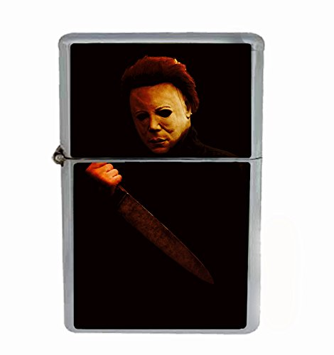 The Shape Halloween Scary Classic Horror Flip Top Oil Cigarette Lighter ()