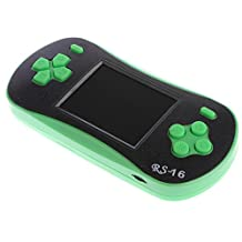 MonkeyJack RS-16 2.5 inch LCD Compact Classic Game Machine Handheld Video Game Player with 260 Retro Games + Screwdriver Tool Green