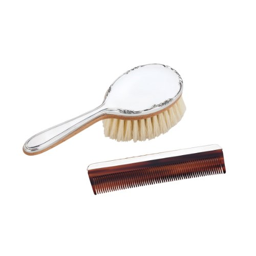 Reed & Barton Pewter Brush and Comb Set, Georgia Girl's by Reed & Barton