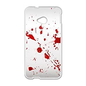 HTC One M7 Phone Case White Dexter-Blood WQ5RT7426172