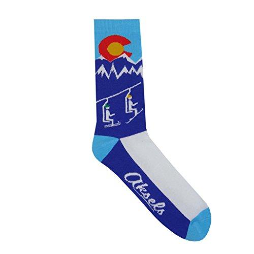 Aksels Colorado Ski Lift Calf Socks for Men and Women