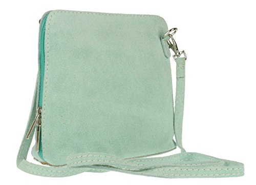 Mint Strap Bag Shoulder London Body Genuine Small Womens Suede pelle Designer Italian Cross Craze Vera Real nZUqF1wpx