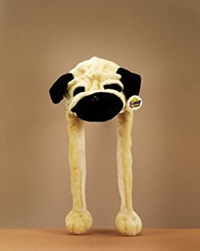 Plush Hat quot  Pug quot  With Scarf ... 62b847286ea