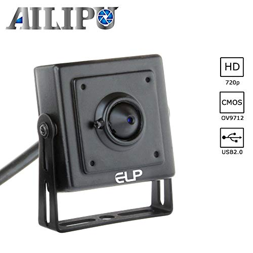 (AILIPU 720P Webcam with 3.7mm Pinhole Lens Camera USB for Android Linux Windows,30fps Webcamera USB Plug and Play Video Camera for Project Video Capture)