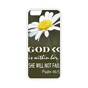 Special 4.7inches God Is Within Her, She Will Not Fail - Psalm 46:5 - Daisy - Bible Verse Pattern iPhone 6 TPU(Laser Technology) Durable Back Case Shell - For iPhone 6 wangjiang maoyi