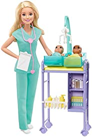 ​Barbie Baby Doctor Playset with Blonde Doll, 2 Infant Dolls, Exam Table and Accessories