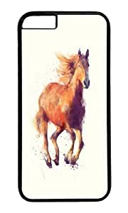 Apple Iphone 6 Case,Muyushiyuan Awesome Horse Boundless Hard Case Protective Shell Cell Phone Cover For Apple Iphone 6 (4.7 Inch) - PC Black