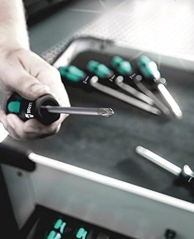 Lasertip Wera 05007680001 Kraftform Plus 334 SK//6 Screwdriver Set and Rack 6-Piece Wera Tools