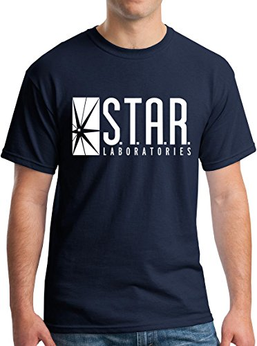 Star Labs Shirt Star Laboratories Adult Gift T-Shirt Navy L ()