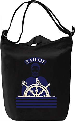 Sailor Borsa Giornaliera Canvas Canvas Day Bag| 100% Premium Cotton Canvas| DTG Printing|